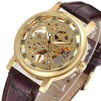 Наручные оригинальные мужские часы скелетоны Winner