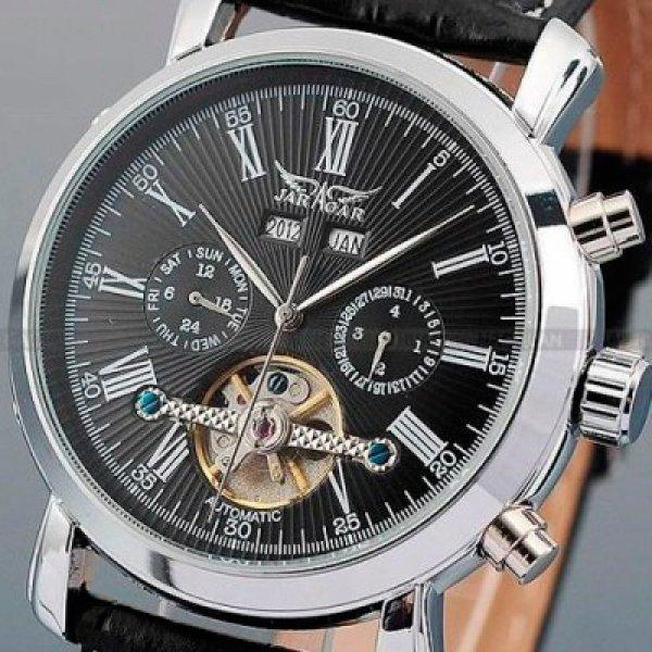 Серебристые стильные мужские часы Jaragar