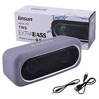 Bluetooth-колонка K8 EXTRA BASS with light show, c функцией speakerphone радио