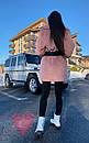 Женская теплая искусственная шуба из экомеха кролика на утеплителе 71shu80, фото 3