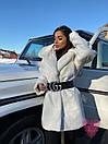 Женская теплая искусственная шуба из экомеха кролика на утеплителе 71shu80, фото 6