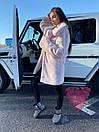 Женская теплая искусственная шуба из экомеха кролика на утеплителе 71shu80, фото 7
