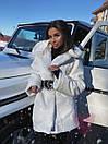 Женская теплая искусственная шуба из экомеха кролика на утеплителе 71shu80, фото 8