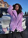 Женская теплая искусственная шуба из экомеха кролика на утеплителе 71shu80, фото 9