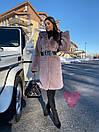 Женская искусственная шуба поперечная с воротником стойкой и длиной 105 см 71shu81, фото 5