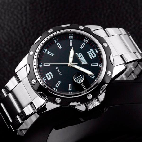 Стальные эксклюзивные мужские часы с стиле кэжуал Skmei
