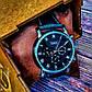 Стильные черные мужские часы к деловому стилю Jaragar, фото 6