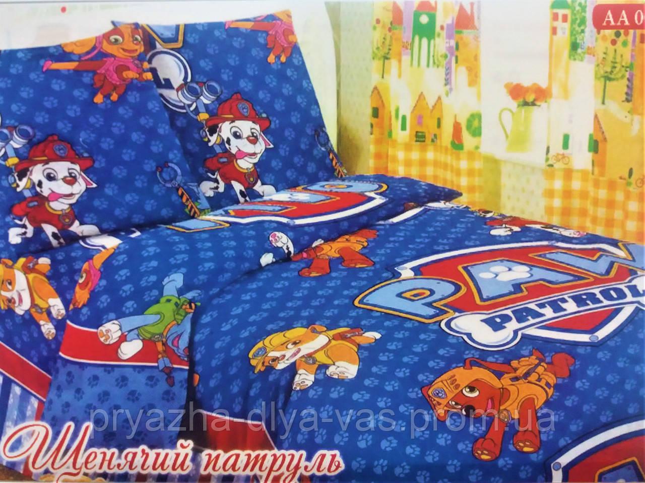 Комплект постельного белья Тиротекс Бязь Щенячий патруль2 Полуторный 144х215