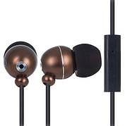 Наушники вакуумные с микрофоном ERGO ES-190i Бронзовый