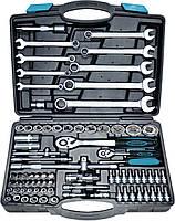 Набір головок 1/2 ,1/4 (4-32мм), ключів (8-22мм), Cr-V, 82 предмети в кейсі Berg 52-112 | набор ключей предметы кейсе