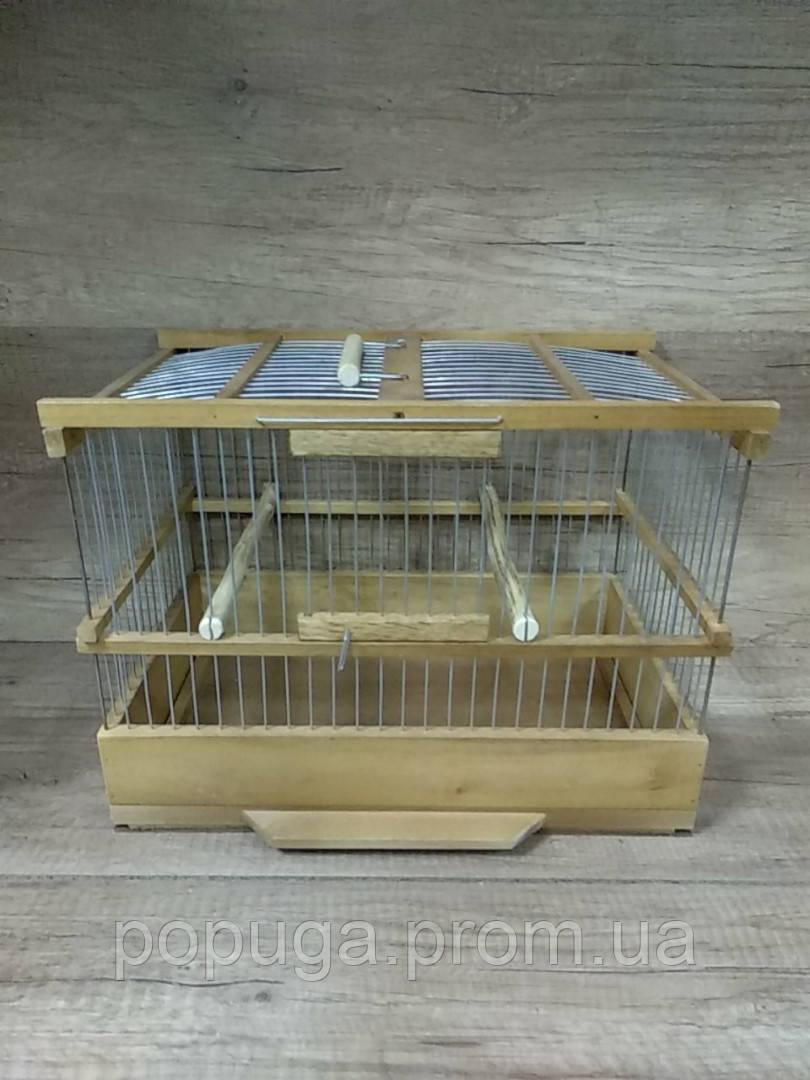 Деревянная клетка для птиц №2 40*30*25см