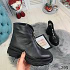 Женские зимние черные ботинки, из натуральной кожи 38 40 ПОСЛЕДНИЕ РАЗМЕРЫ, фото 3