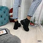 Женские зимние черные ботинки, из натуральной кожи 38 40 ПОСЛЕДНИЕ РАЗМЕРЫ, фото 5