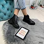 Женские зимние черные ботинки, из натуральной кожи 38 40 ПОСЛЕДНИЕ РАЗМЕРЫ, фото 6