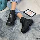 Женские зимние черные ботинки, из натуральной кожи 38 40 ПОСЛЕДНИЕ РАЗМЕРЫ, фото 7