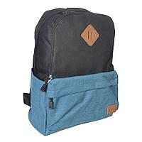 Молодежный городской рюкзак Venlice черно-синий