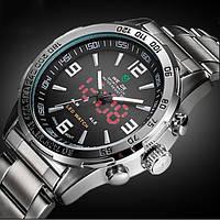 Классические стильные мужские часы в стальном дизайне Weide