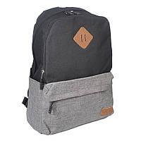 Молодежный городской рюкзак Venlice черно-серый