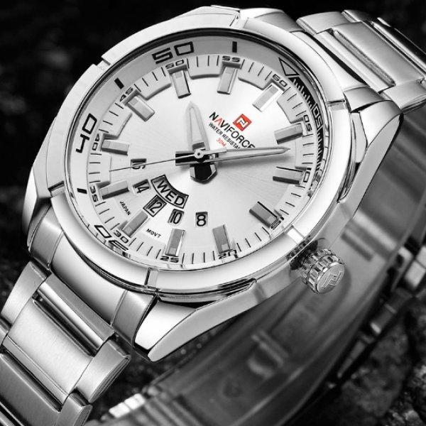 Металлические мужские часы с классическим ремешком Naviforce
