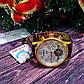 Золотистые мужские часы с кожаным коричневым ремешком Carnival, фото 7