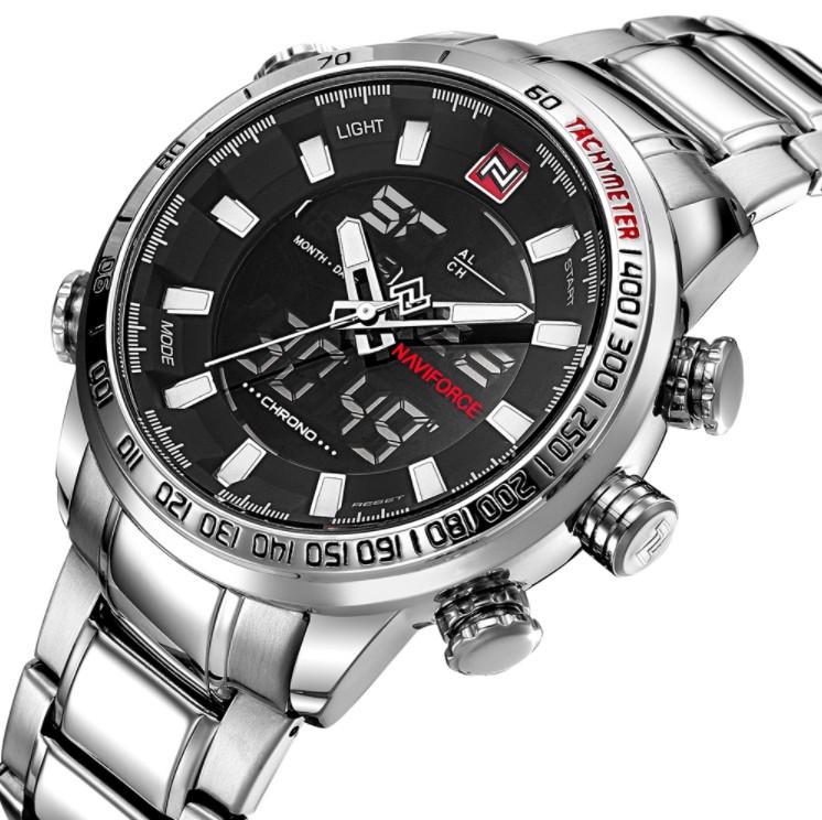 Ударопрочные стальные мужские часы для повседневного ношения Naviforce