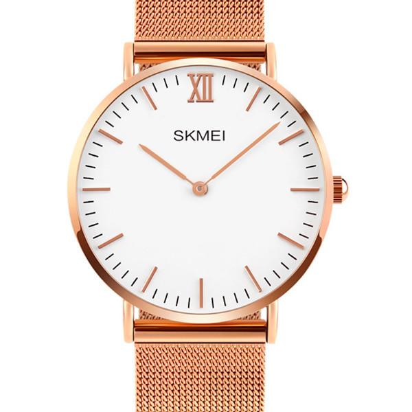 Компактные мужские часы в стиле минимал Skmei