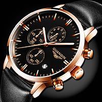 Выполненные в классическом стиле мужские часы Guanquin