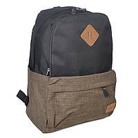 Молодежный городской рюкзак Venlice черно-коричневый