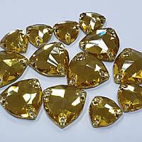 Стрази пришивні SWARO Trillant 16мм. Gold Topaz