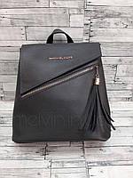 Женский рюкзак-сумка из экокожи в стиле Michael Kors Серый