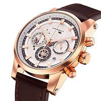 Золотые элегантные мужские часы Hemsut