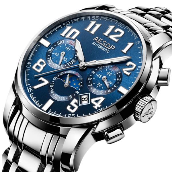 Премиальные мужские механические часы Aesop