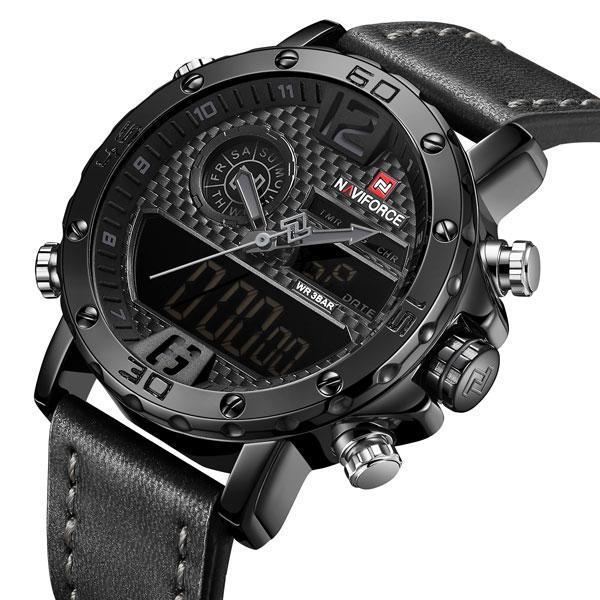 Роскошные мужские часы с японским механизмом Naviforce