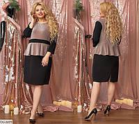 Стильное платье  (размеры 50-56) 0226-57, фото 1