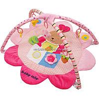 Мягкий коврик для малыша Alexis Baby Mix Кролик, кольца, съемные дуги, 92x93 см (Q/3133C)