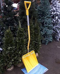 Лопата для снега 41х41 см Польша ➜ Пластиковая лопата снегоуборочная ➜ Лопата снігова жовта