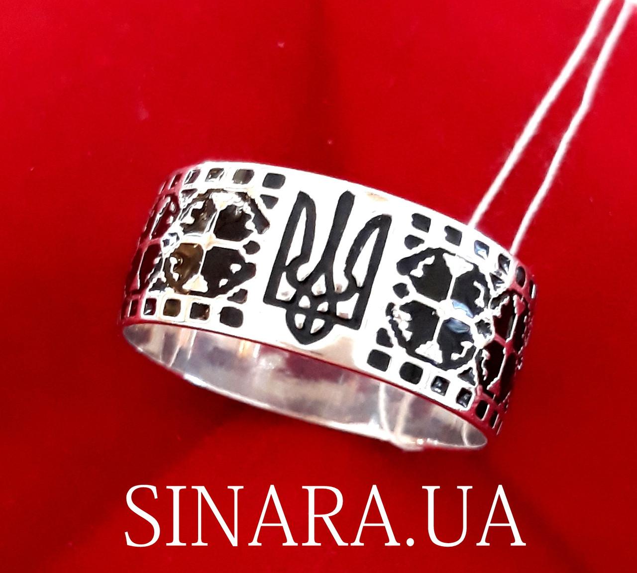 Каблучка з Тризубом - Кольцо Тризуб серебро - Тризубец кольцо Герб Украины
