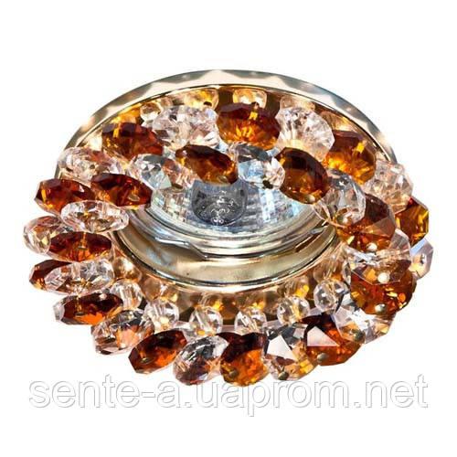 Встраиваемый светильник Feron CD4141 коричневый золото
