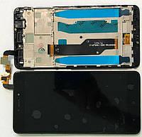 Дисплей модуль для Xiaomi Redmi Note 4x з рамкою в зборі, з тачскріном, чорний