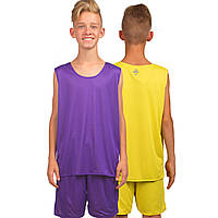 Форма баскетбольная подростковая двухсторонняя Stalker, фиолетовый (LD-8300T-(vl))