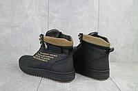 Мужские зимние ботинки на меху в стиле Vitex, шерсть, натуральная кожа, черные *** 41 (27 см)