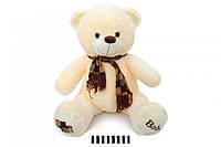 Ведмедик з шарфом музичний молочний 1202/50  50 см