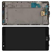 Дисплей LG K220DS X Power модуль в сборе с тачскрином, черный, с рамкой