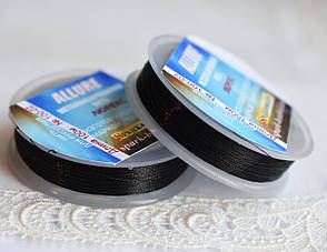 Люрекс ALLURE, чорний, 100м, Spark Beads