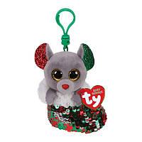 Брелок-игрушка TY Flippable Мышка Чиппер, 12 см
