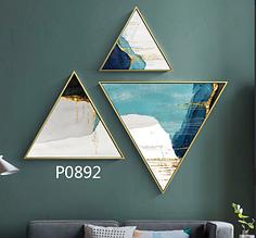 Модульная картина треугольники 3 в 1 top-873