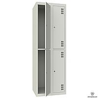 Шкаф металлический гардеробный ШМ-2-4-300х900