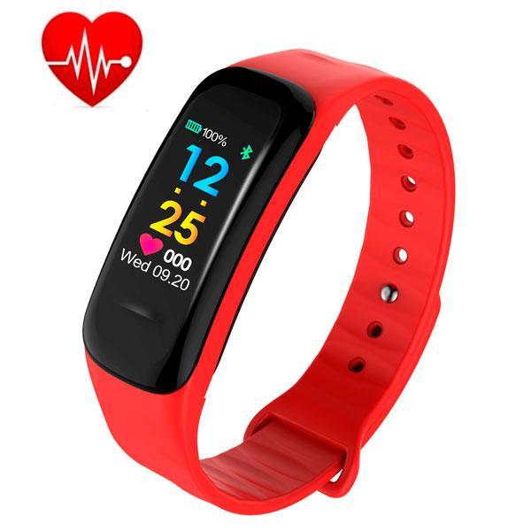 UWatch Умные часы Smart Maxi Water Red с пульсометром
