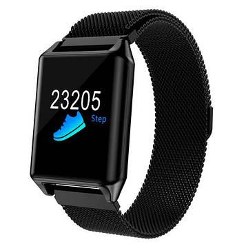 Умные часы с пульсометром Smart Z100 Plus Black