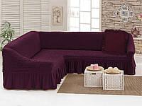 Набор Love you Вишня-40 чехол для углового дивана и декоративная подушка